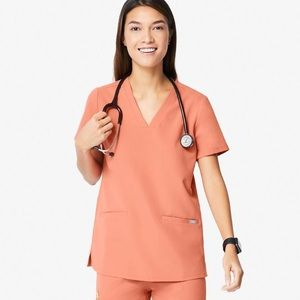 FIGS 3 pocket cask a scrub top RARE coral limited